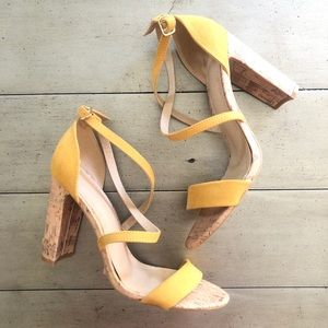Charlotte Russe Yellow Strappy Heels Size 10